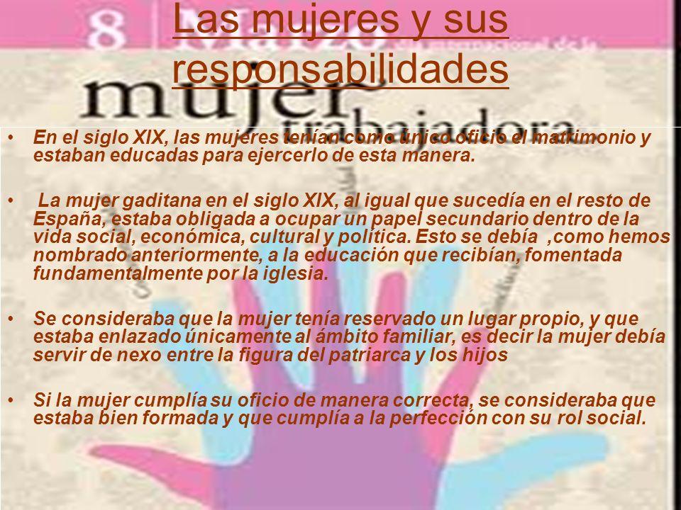 La mujer gaditana Cádiz va a ser protagonista de una serie de cambios en la mentalidad del siglo XIX, con La Constitución de 1812.