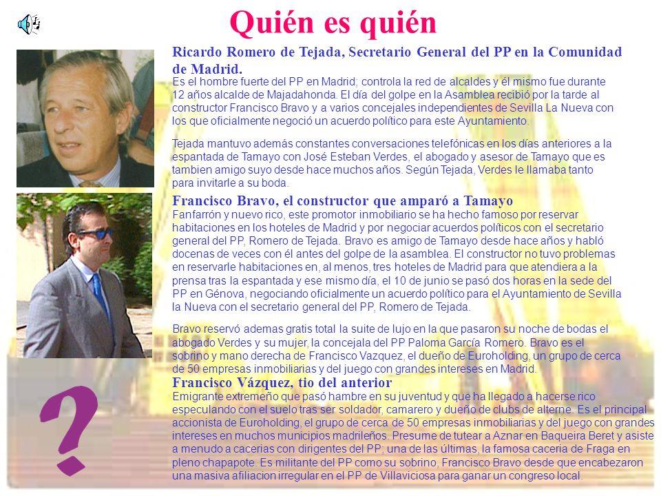 Quién es quién Ricardo Romero de Tejada, Secretario General del PP en la Comunidad de Madrid. Es el hombre fuerte del PP en Madrid; controla la red de