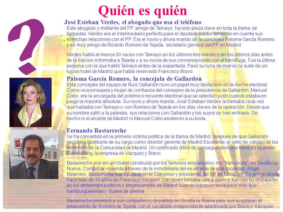 Quién es quién José Esteban Verdes, el abogado que usa el teléfono Este abogado y militante del PP, amigo de Tamayo, ha sido pieza clave en toda la tr