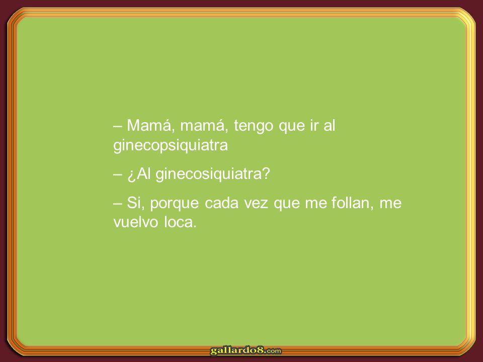Una niña le pregunta a su madre: – Mamá, a los ocho años se puede quedar una embarazada.