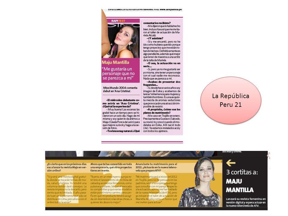 Maju Mantilla: Soy una mujer demasiado apasionada La guapa modelo es imagen de la nueva fragancia Vehemence, exquisita mezcla de aromas seductoras.modeloVehemence Maria Julia Mantilla se confiesa una mujer apasionada (Foto: Difusión).