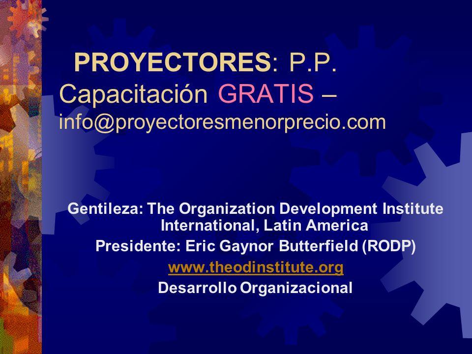 PROYECTORES: P.P.
