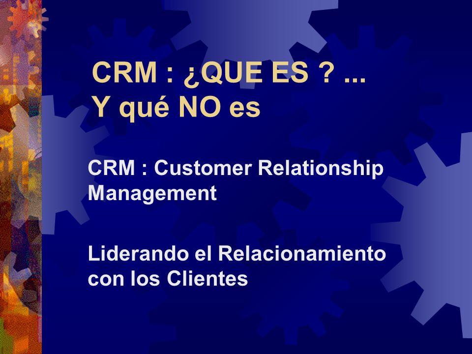 CRM : ¿QUE ES ?...