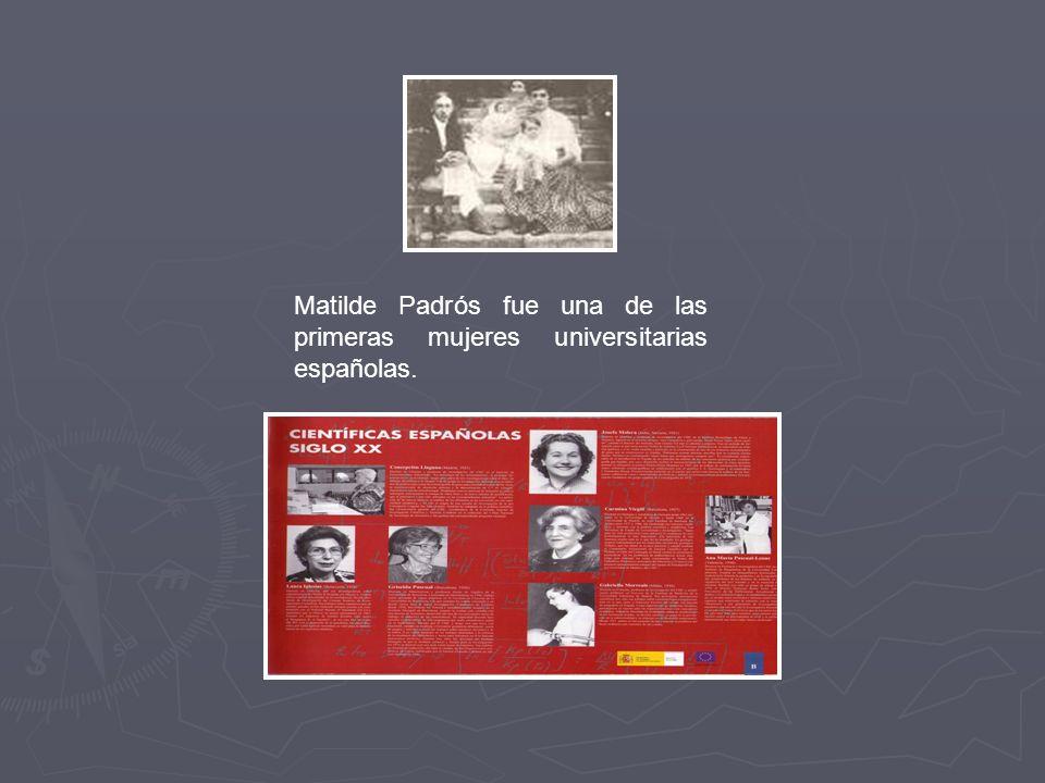 Matilde Padrós fue una de las primeras mujeres universitarias españolas.