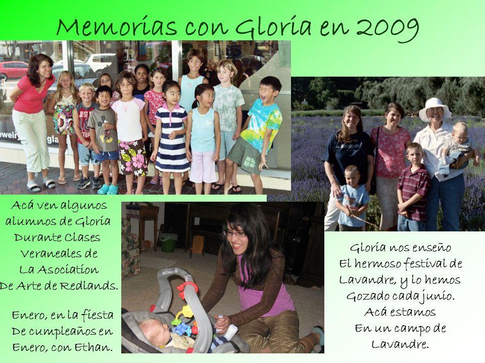 Memorias con Gloria en 2009 Gloria nos enseño El hermoso festival de Lavandre, y lo hemos Gozado cada junio.