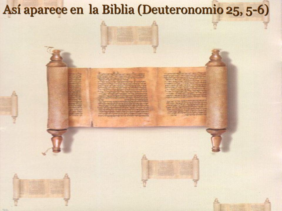 <Maestro, Moisés nos dejó escrito que si muere el hermano de alguno, que estaba casado y no tenía hijos, que su hermano tome a la mujer para dar desce