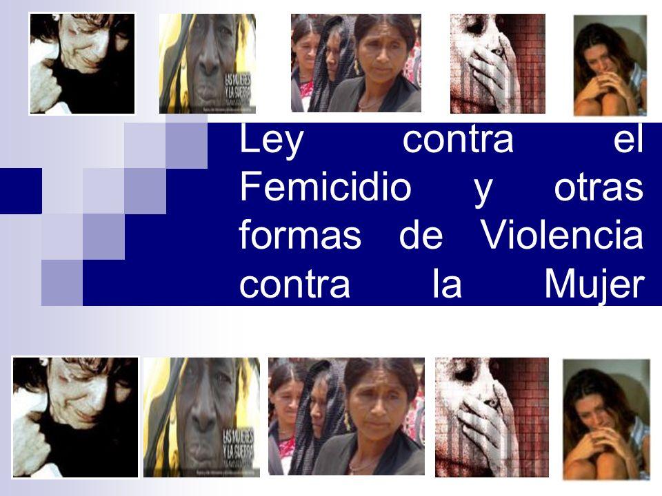 15 Ley contra el Femicidio y otras formas de Violencia contra la Mujer