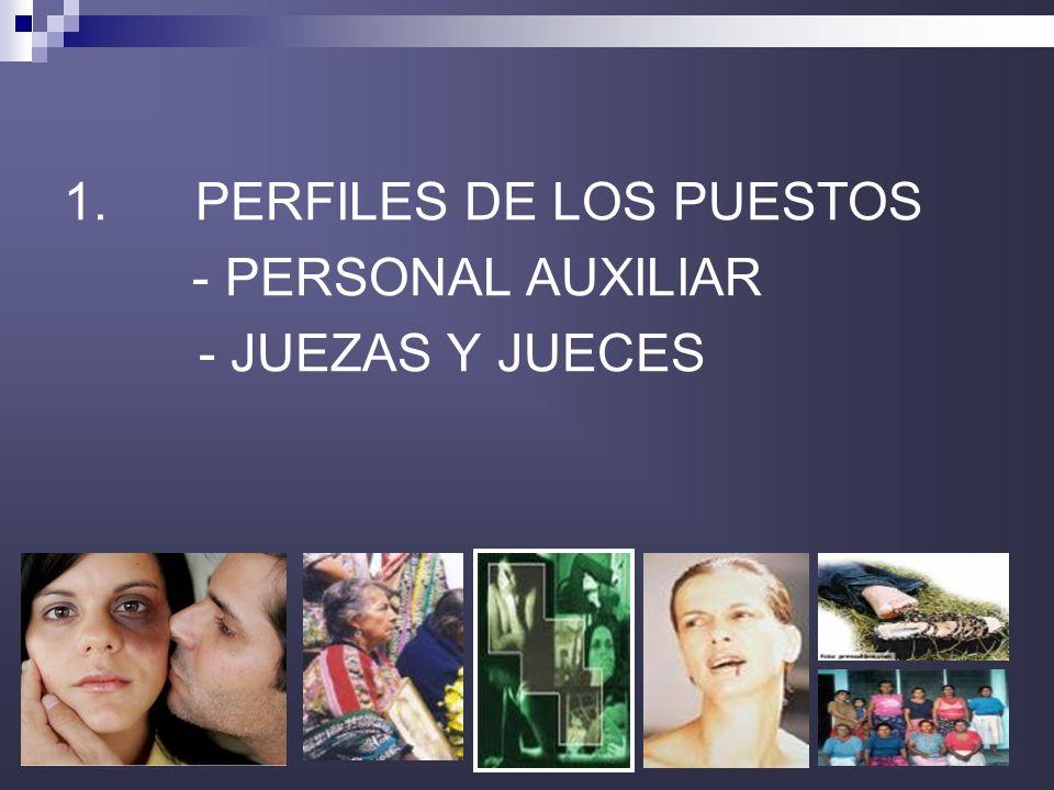 33 1. PERFILES DE LOS PUESTOS - PERSONAL AUXILIAR - JUEZAS Y JUECES