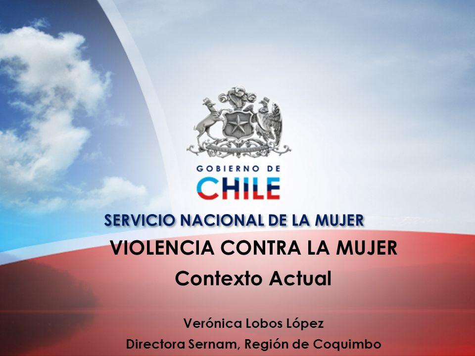 VIOLENCIA CONTRA LA MUJER Contexto Actual Verónica Lobos López Directora Sernam, Región de Coquimbo SERVICIO NACIONAL DE LA MUJER