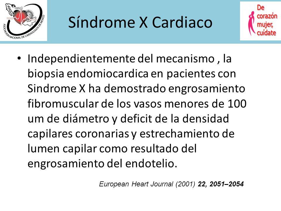 PCR-us EN SINDROME X PCR us (mg/dl) No. Episodios de angina PCR us (mg/dl) Duración de dolor precordial PCR us (mg/dl) No. episodios depresión ST Holt