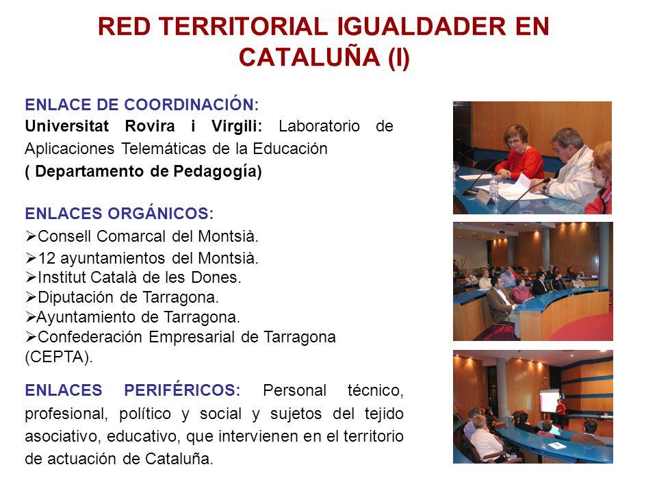 RED TERRITORIAL IGUALDADER EN CATALUÑA (I) ENLACE DE COORDINACIÓN: Universitat Rovira i Virgili: Laboratorio de Aplicaciones Telemáticas de la Educaci