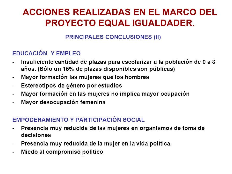 POLÍTICAS Y ACCIÓN MUNICIPAL ESPECÍFICAS PARA LA MUJER -Estado muy inicial de las Políticas de Desarrollo Local Igualitario.