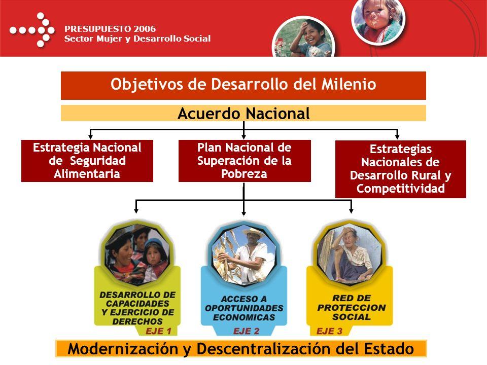 PRESUPUESTO 2006 Sector Mujer y Desarrollo Social PRIORIZACIÓN DE DEMANDAS ADICIONALES 2006 PLIEGO MIMDES