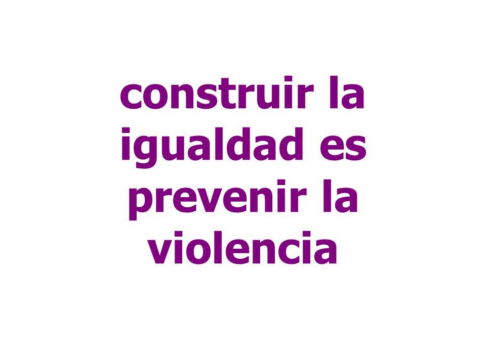 construir la igualdad es prevenir la violencia