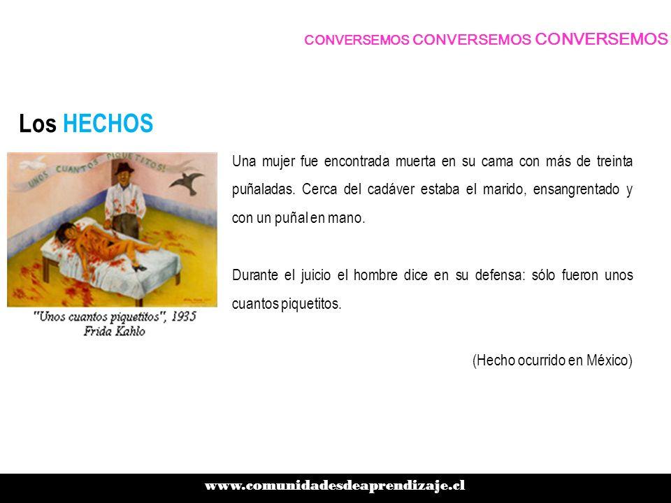 Los HECHOS www.comunidadesdeaprendizaje.cl CONVERSEMOS CONVERSEMOS CONVERSEMOS Entre 1988 y 2001, en la localidad de Alto Hospicio, 17 mujeres -11 de ellas menores de 18 años- fueron violadas y asesinadas.