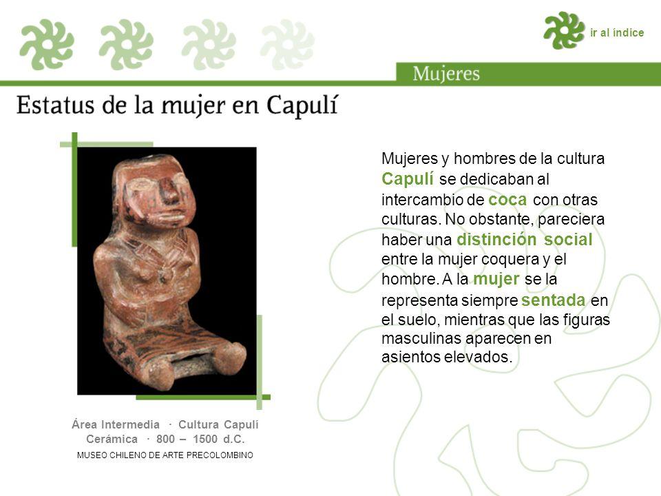 ir al índice Mujeres y hombres de la cultura Capulí se dedicaban al intercambio de coca con otras culturas.