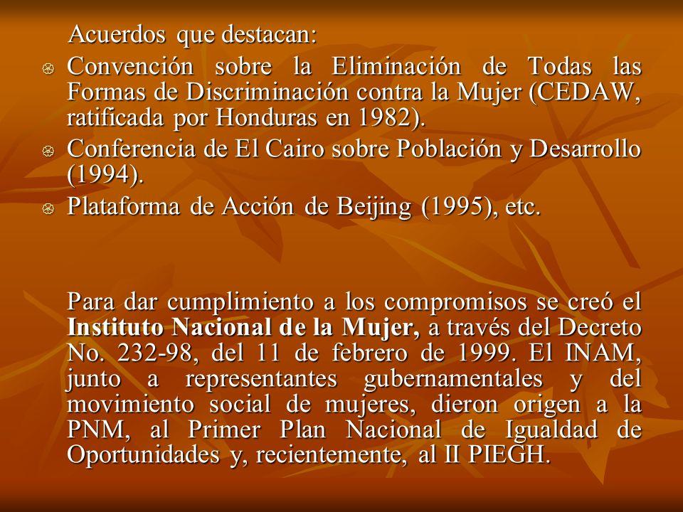 Acuerdos que destacan: Acuerdos que destacan: Convención sobre la Eliminación de Todas las Formas de Discriminación contra la Mujer (CEDAW, ratificada