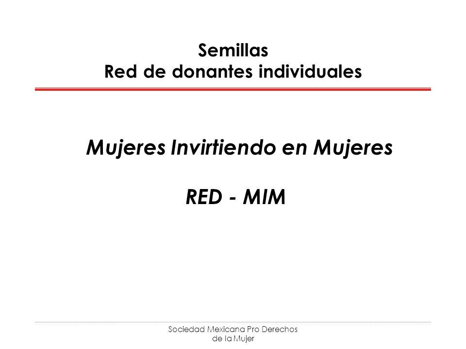 Sociedad Mexicana Pro Derechos de la Mujer Semillas Red de donantes individuales Mujeres Invirtiendo en Mujeres RED - MIM