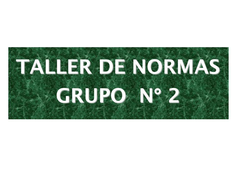 TALLER DE NORMAS GRUPO N° 2