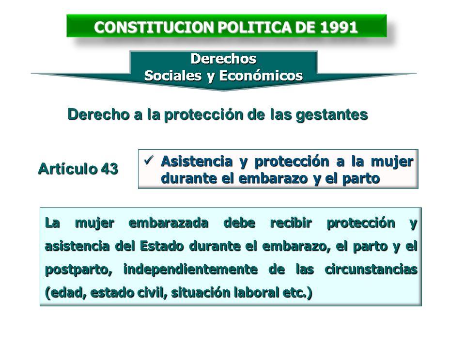 Asistencia y protección a la mujer durante el embarazo y el parto Asistencia y protección a la mujer durante el embarazo y el parto Artículo 43 Derech