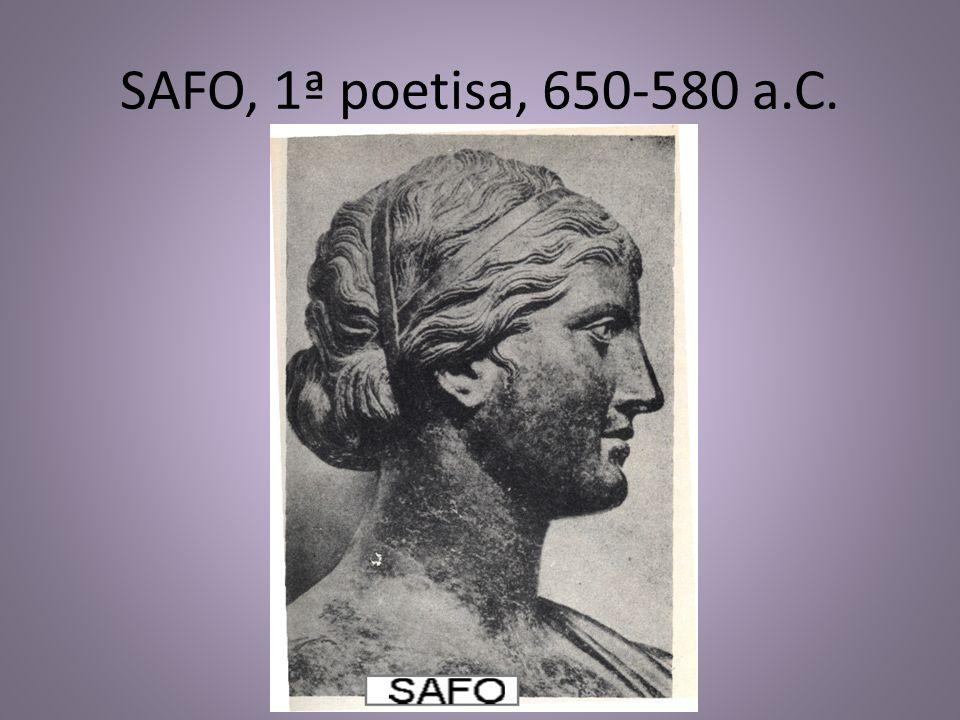 SAFO, 1ª poetisa, 650-580 a.C.