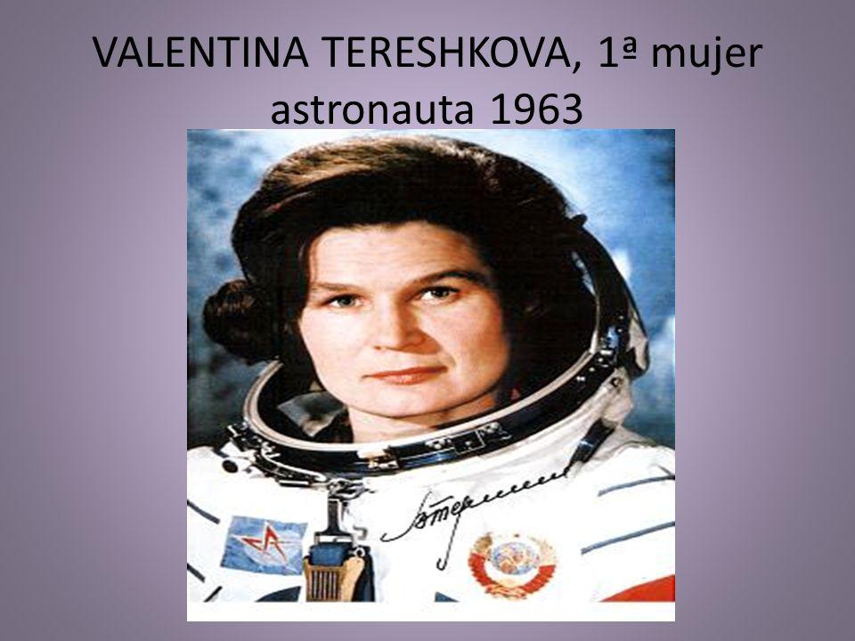 VALENTINA TERESHKOVA, 1ª mujer astronauta 1963