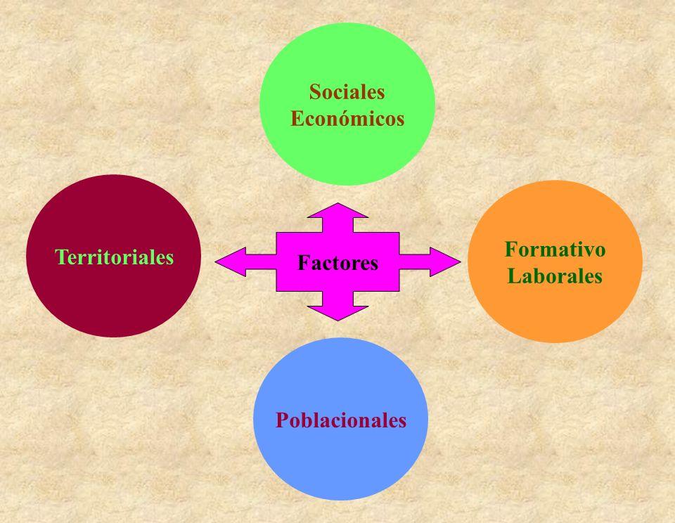 Sociales Económicos Territoriales Poblacionales Formativo Laborales Factores