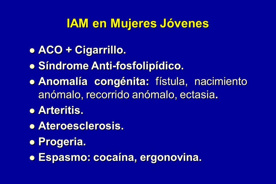 ACO + Cigarrillo.Síndrome Anti-fosfolipídico.