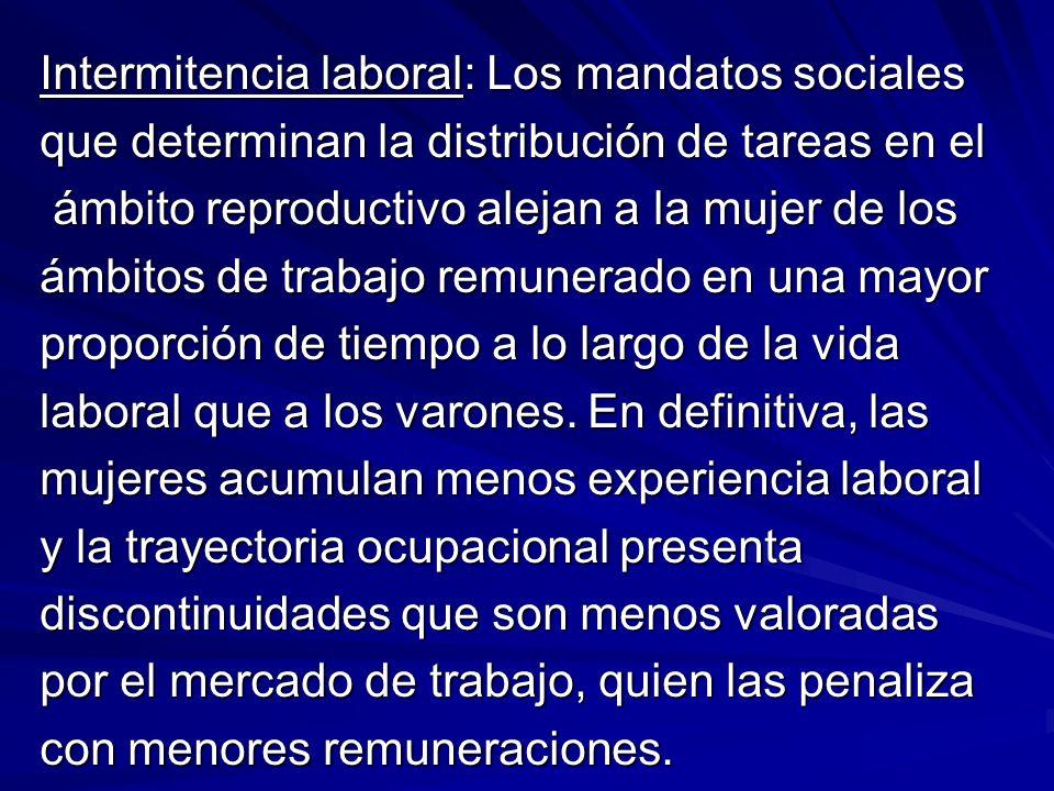 Intermitencia laboral: Los mandatos sociales que determinan la distribución de tareas en el ámbito reproductivo alejan a la mujer de los ámbito reprod