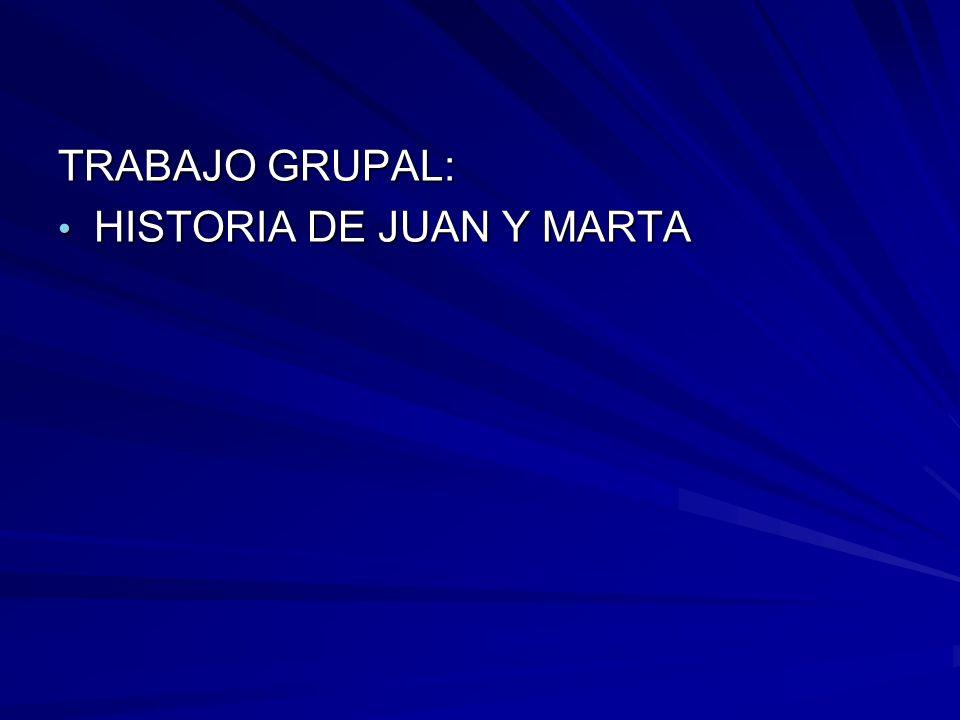 TRABAJO GRUPAL: HISTORIA DE JUAN Y MARTA HISTORIA DE JUAN Y MARTA