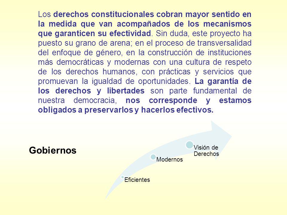 Los derechos constitucionales cobran mayor sentido en la medida que van acompañados de los mecanismos que garanticen su efectividad. Sin duda, este pr