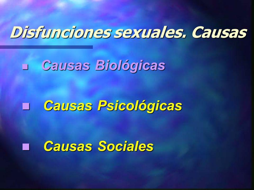 Disfunciones sexuales.