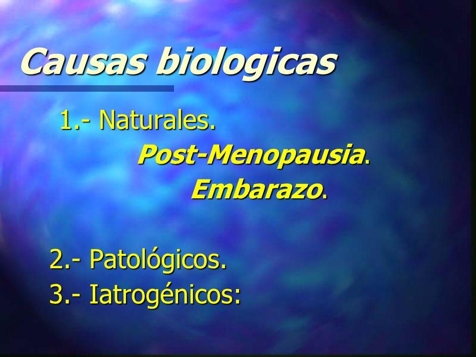Causas biologicas 1.- Naturales.1.- Naturales. Post-Menopausia.
