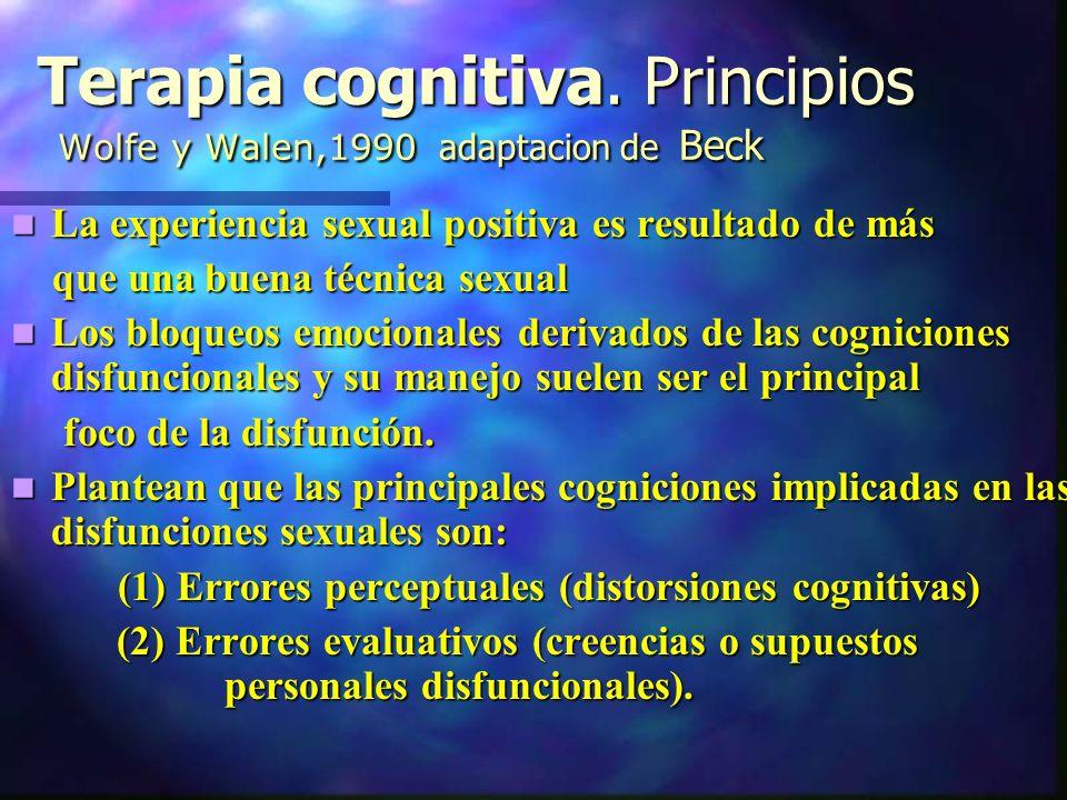 Terapia cognitiva.