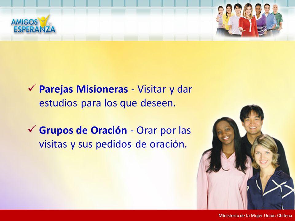 Equipos de Apoyo Parejas Misioneras - Visitar y dar estudios para los que deseen.