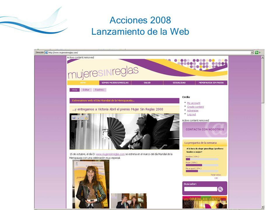 16 Acciones 2008 Lanzamiento de la Web