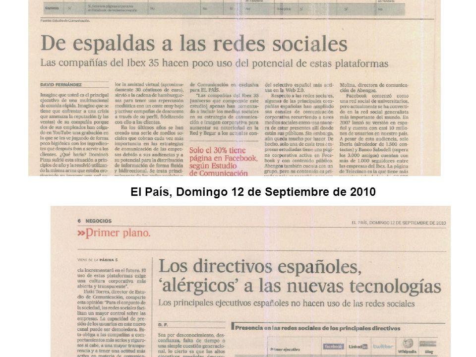 El País, Domingo 12 de Septiembre de 2010
