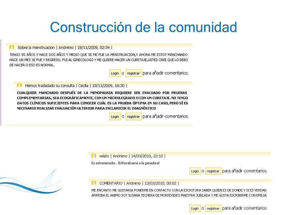 23 Construcción de la comunidad