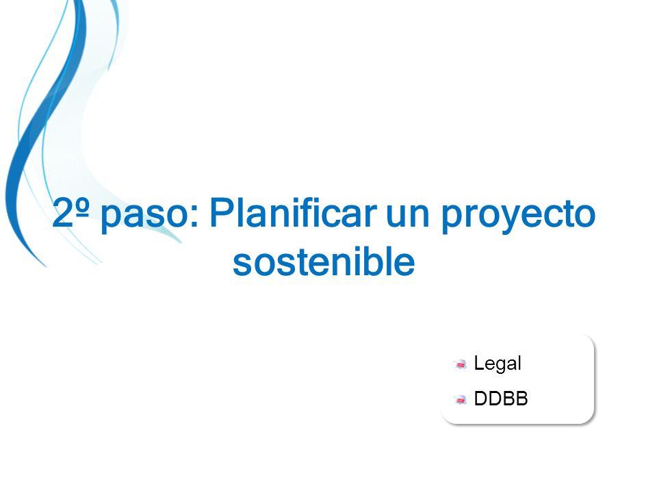 Legal DDBB Legal DDBB 2º paso: Planificar un proyecto sostenible