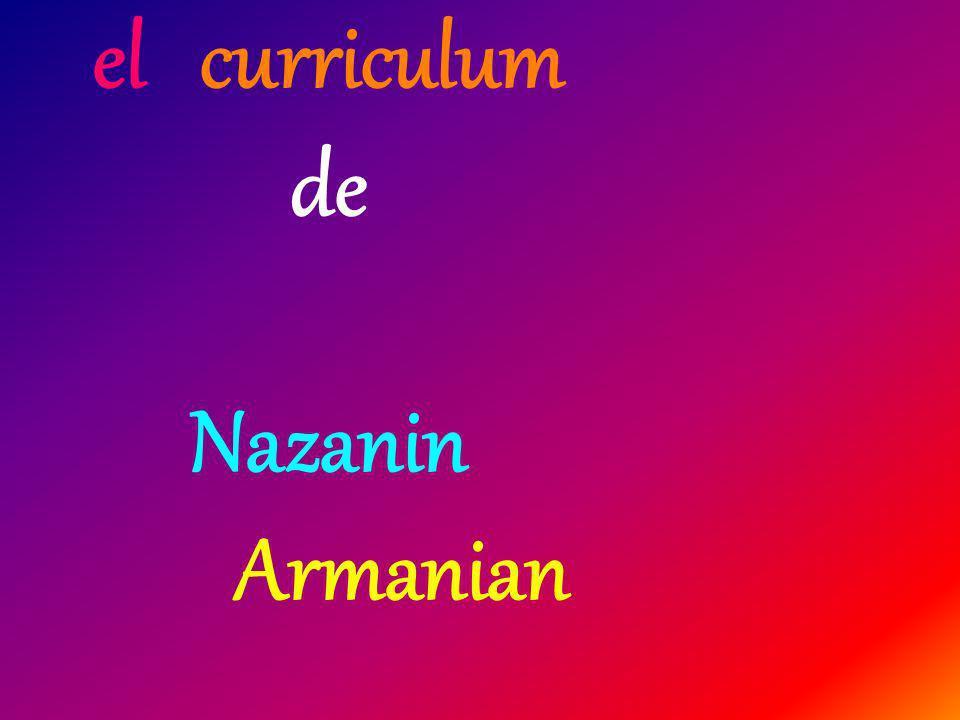 el curriculum de Nazanin Armanian
