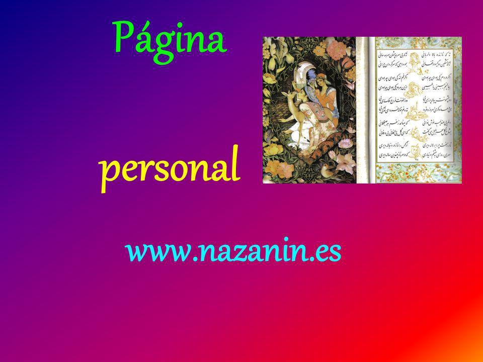 Página personal www.nazanin.es