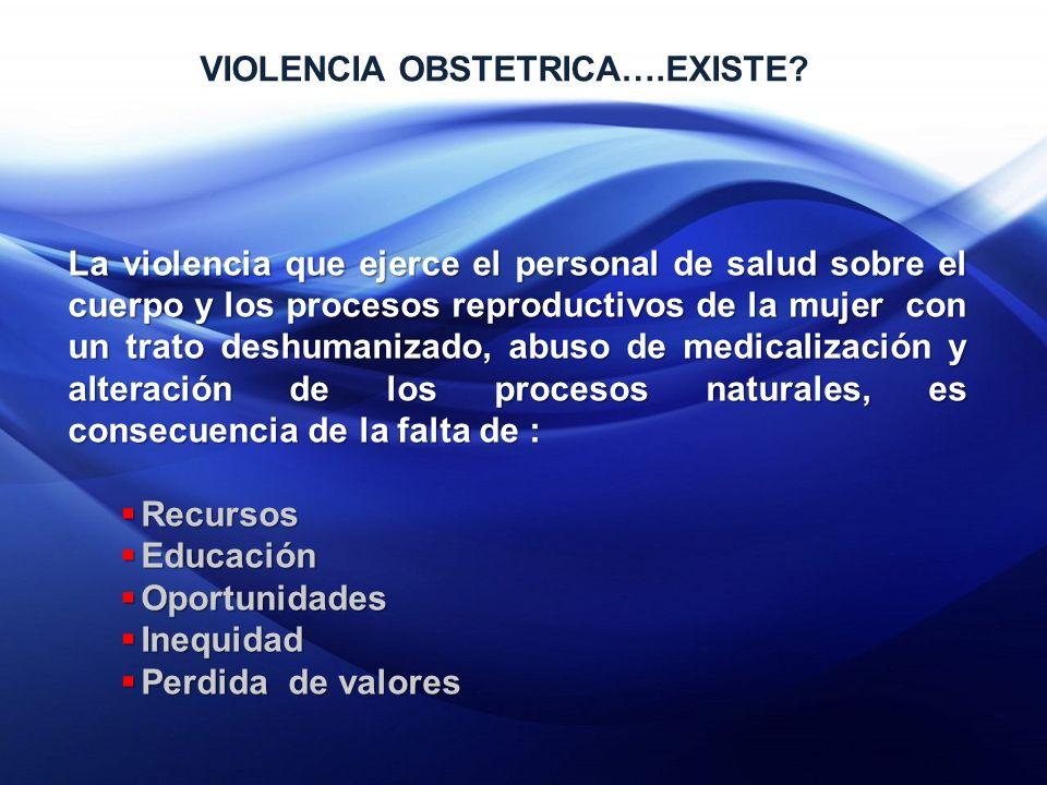 VIOLENCIA OBSTETRICA….EXISTE.