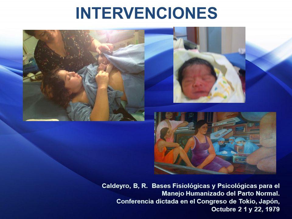 INTERVENCIONES Caldeyro, B, R.