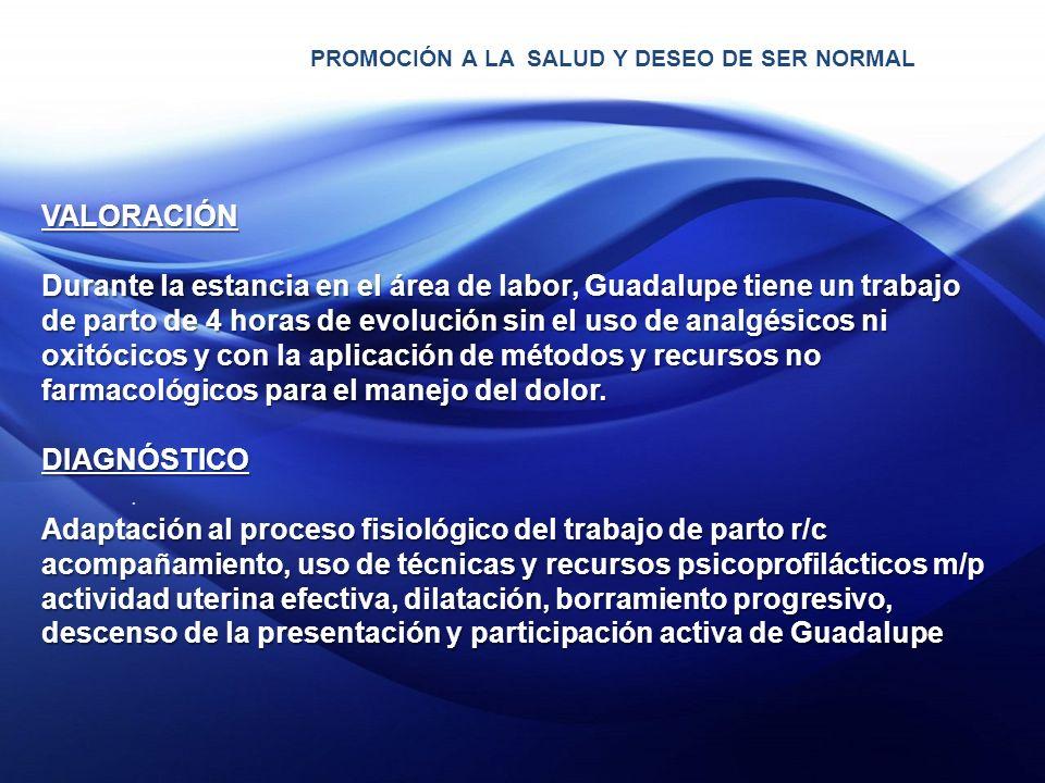 PROMOCIÓN A LA SALUD Y DESEO DE SER NORMAL.