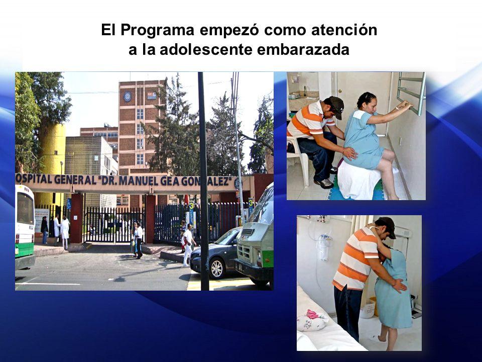 El Programa empezó como atención a la adolescente embarazada