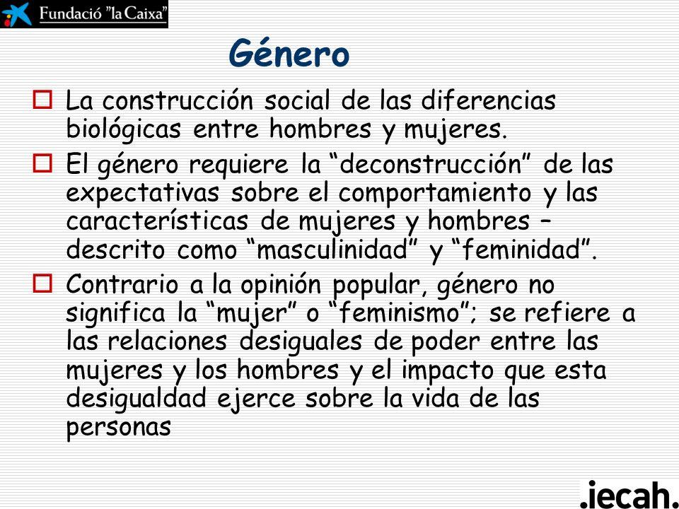 Curso de gestión del ciclo del proyecto en la acción humanitaria Aspectos transversales: - Perspectiva de Género Toledo, 26-28 de abril 2007