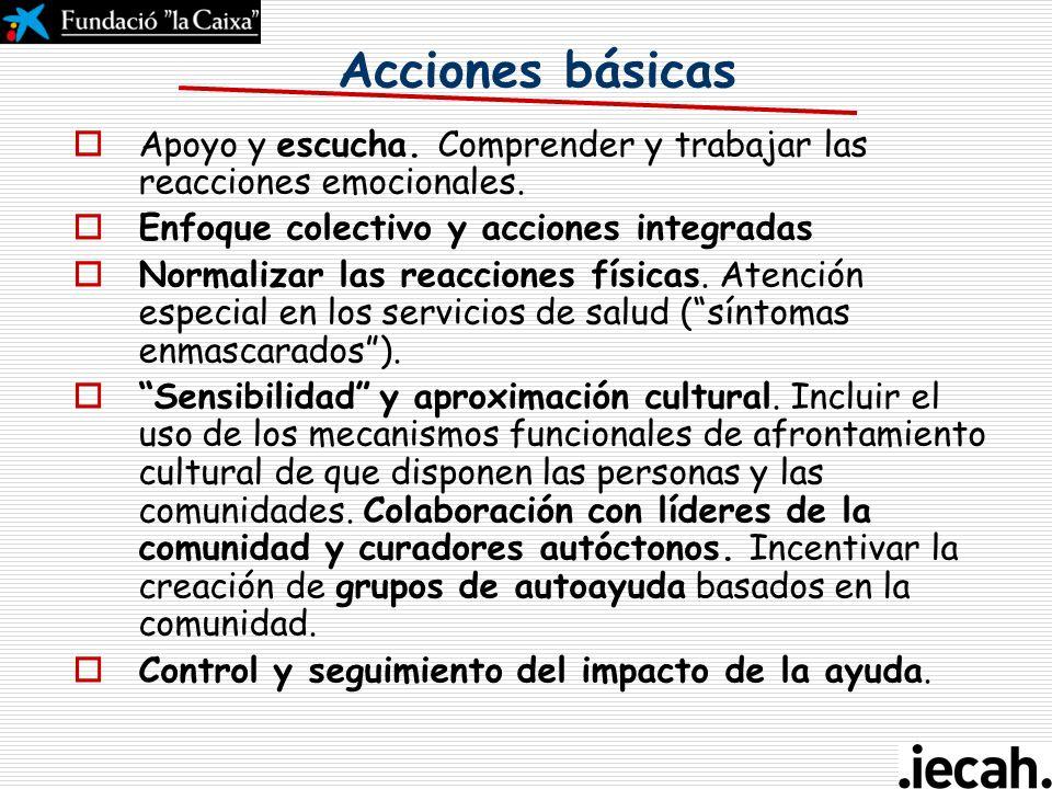 Curso de gestión del ciclo del proyecto en la acción humanitaria Aspectos transversales: - Psico-sociales Toledo, 26-28 de abril 2007