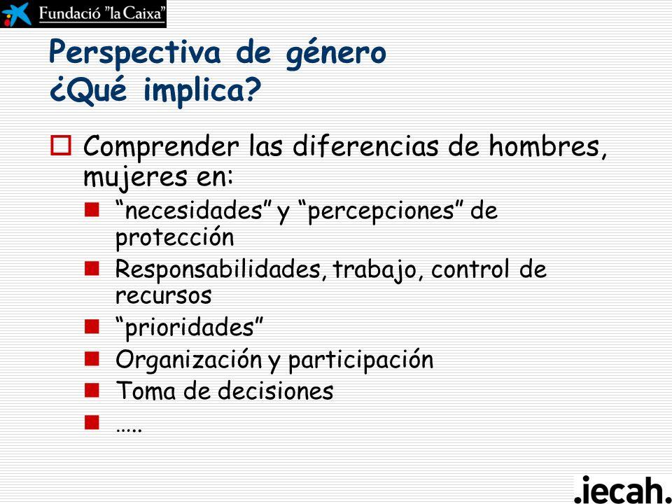 Género La construcción social de las diferencias biológicas entre hombres y mujeres. El género requiere la deconstrucción de las expectativas sobre el