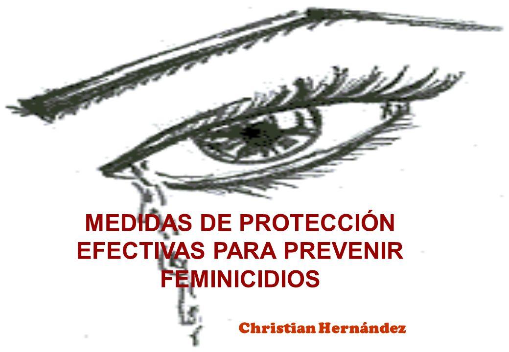 MEDIDAS DE PROTECCIÓN EFECTIVAS PARA PREVENIR FEMINICIDIOS Christian Hernández