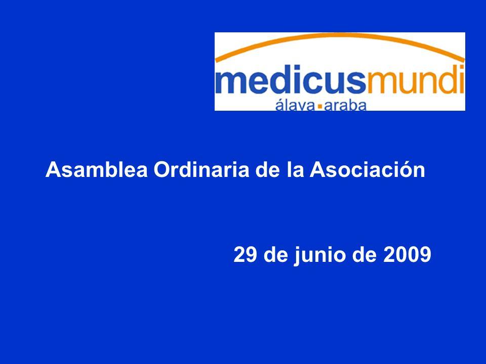 Asamblea Ordinaria de la Asociación 29 de junio de 2009